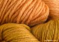 BFL wool dyed with greenweed & madder extracts | Wild Colours natural dyes