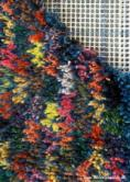 Latched rug with natural dyes