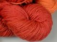 wool dyed with brazilwood natural dye extract