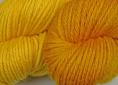 BFL superwash wool dyed with fustic natural dye extract