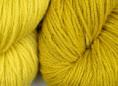 wool dyed with dyers greenweed extract