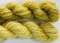 BFL superwash wool dyed with goldenrod natural dye extract