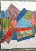 Patchwork quilting with natural dyes